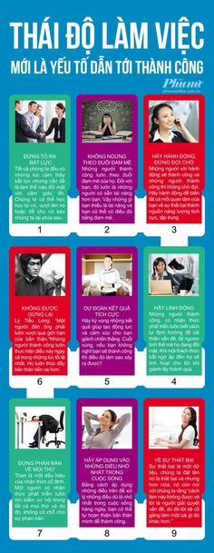 Infographic - Thành Công ở Thái Độ Làm Việc