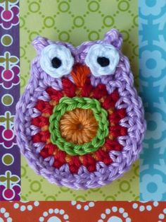 Adorable little crochet owl. There are patterns for this and other cute crochet things on her Etsy page (ATERGcrochet) Crochet Owls, Love Crochet, Beautiful Crochet, Crochet Crafts, Yarn Crafts, Crochet Flowers, Knit Crochet, Crochet Patterns, Crochet Things