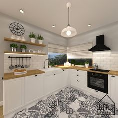 Kitchen Shop, New Kitchen, Kitchen Decor, Apartment Kitchen, Apartment Interior, Küchen Design, House Design, Kitchen Colour Schemes, Beautiful Kitchens