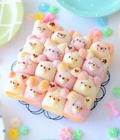 Deco gerissen Brot | Cute Food | Pinterest