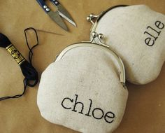 Lovely personalized coin purses by oktak on Etsy