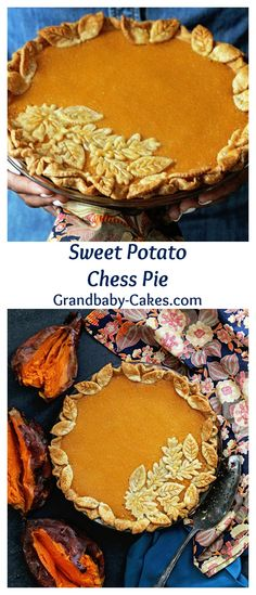 Sweet Potato Chess Pie - A spin on the classic! | Grandbaby-Cakes.com