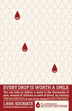 A blood drive poster for florida blood centers Blood Donation Posters, Blood Donation Day, Drive Poster, Poster On, Charity Poster, Don Du Sang, Blood Drive, Pharmacy Design, Graphic Projects