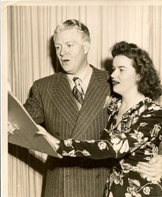 Nelson Eddy with Rece Saxon. Date on the back of the photo says 1/7/45 - Escano Collection