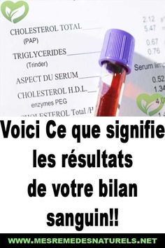 Here's what your blood test results mean ! Health And Wellness, Health Tips, Health Fitness, Blood Test Results, Relieve Gas, Cooking For Beginners, Health Education, Acupuncture, Voici