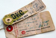 Vintage Airline Luggage Tags Continental