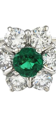 emerald/diamond. Ring, earrings or necklace- I'll take them all!