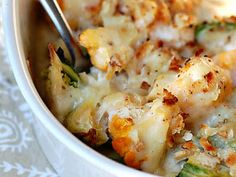A Cozy Kitchen makes Cauliflower and Brussels Sprout Gratin, which can act as a side dish or a main course.