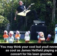 It's funnier when you realize he's playing for Snow White & the seven dwarves. But Grumpy is having none of Papa Het's metal god shit.