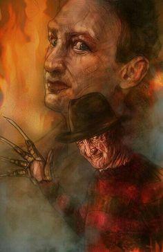 Items similar to Freddy Krueger Nightmare On Elm Street Robert Englund Horro Movie Style Poster (Signed by Barry Sachs) on Etsy Freddy Krueger, Horror Movie Characters, Horror Movies, Freddy's Nightmares, Dream Warriors, Robert Englund, Horror Posters, Movie Posters, Nightmare On Elm Street