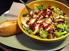 My favorite Panera salad (chopped bbq chicken salad). Made this knock off at home and my children loved it
