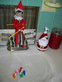 Elf on the shelf Fishing,