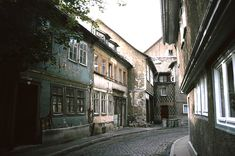 Gasse in Meiningen, DDR, 1979    by Kurt Tauber