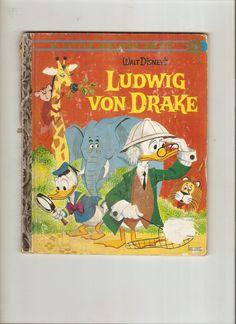 Little Golden Book Ludwig von Drake - 1961