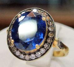 Beautiful Kyanite Ring With DIamonds By Gemvanity. www.gemvanity.com