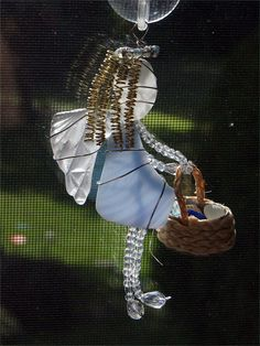 Sea Glass Angel Suncatcher Ornament With by oceansbounty on Etsy
