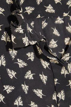 Isabel Marant - Sloan Printed Silk-chiffon Blouse - Black