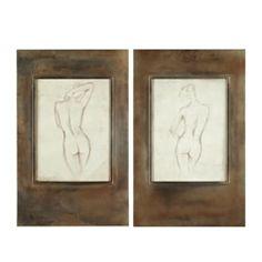 Bronze Figures - Set of 2 from Z Gallerie