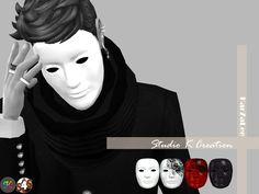 Anonymous Maskstandalone / EA mesh edited / 4 colors / find at glasses category/ work for base gameMediafire download OR Baidu download