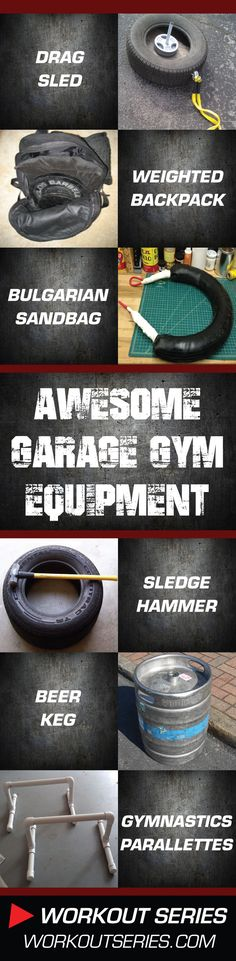 Fitness & Exercise Equipment - DIY: Homemade Garage Gym Workout Equipment – 36 Cool How-To Projects Crossfit Equipment, Home Workout Equipment, Crossfit Gym, Training Equipment, Homemade Workout Equipment, Garage Gym, Gym Workouts, At Home Workouts, Fitness Exercises