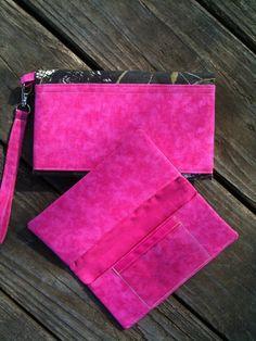 Mossy Oak Breakup Camo Hot Pink Clutch Wallet 2 pc by purse4you, $26.50