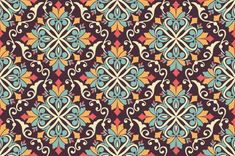 Floral seamless pattern background in ar... | Free Vector #Freepik #freevector #floral #islamic #geometric #ramadan Luxury Background, Background Vintage, Background Patterns, Textured Background, Vector Background, Mandala Pattern, Mandala Design, New Year Wishes Cards, Motif Arabesque
