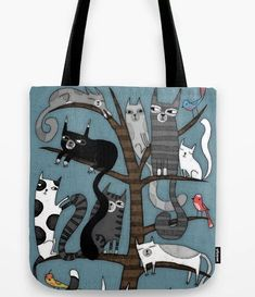 18 Kick-Ass Products That Will Help You Embrace Your Inner Crazy Cat Lady Cat Lover Gifts, Cat Gifts, Cat Lovers, Crazy Cat Lady, Crazy Cats, Tree Bag, Original Gifts, Buy A Cat, Cat Tree