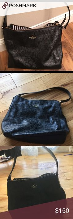Kate spade purse Black leather kate spade purse! I have a kate spade addiction and I'm clearing out my closet because some of these beauties don't see the light of day and are so beautiful, they deserve to be worn!  In near perfect condition! Let me know if you have any questions or would like to see more pics 😍😍 kate spade Bags