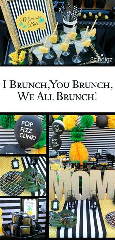 Celebrate your summer with party ideas from the Shindigz blog! Check out the pineapple brunch that @lauraslilparty styled using Shindigz products!