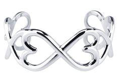 Hearts Of Love Sterling Silver Cuff Bracelet.  Hearts surround this entire cuff bracelet.  So pretty, feminine and unique.
