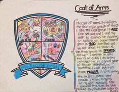 Coloring Activities for Middle School Awesome Personal Coat Arms Middle School Art, Middle Ages, Art School, High School, Summer School, School Stuff, Art Therapy Activities, Color Activities, Lessons For Kids