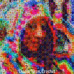 Dada Neon Crochet Photo Mosaic Tutorial