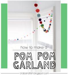 crab+fish: pom pom garlands!