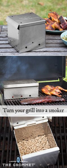 This BBQ smoker box makes smoking meats and fish easy because it works inside any type of grill. All you need (besides the grill) is your protein of choice and the box takes it from there, cooking ribs, chicken and more to smoky, tasty, doneness.