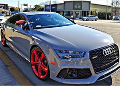 """""""Dat red wheels [ by: @jpsweeny4 ] #QUATTROFFICIAL #RS7 #v8 #AudiRS7 #Audi #RS #AudiRS #Quattro #Audirepost #AudiQuattro #AudiFamily #RSFamily"""""""