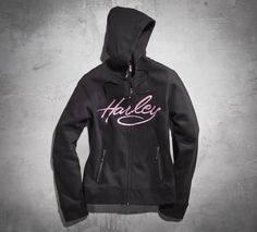 Wear your dedication for a cure with the Pink Label Embellished Hoodie. A portion of every sale is donated to organizations that support breast cancer patients and their families.   Harley-Davidson Women's #PinkLabel Embellished Hoodie