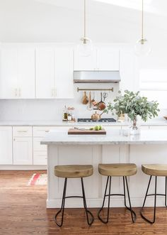 Inside a Wedding Blogger's Gut-Renovated Kitchen via @MyDomaine