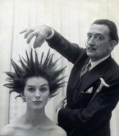 Dali's hair salon, 1957.