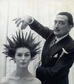 Dali's hair salon, 1957. S)