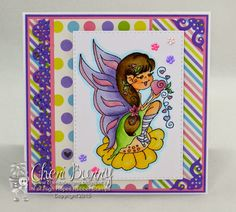 "High Hopes Stamps: Adorable colorful Fairy card by Cheri using new release ""Julie's Dream"""