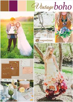 Love a boho look? Check out this boho style wedding inspiration and wedding invitation  to match!