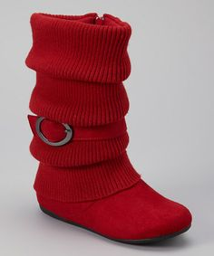 Take a look at this Red Daysi Fold-Over Boot by Ositos Shoes on #zulily today!
