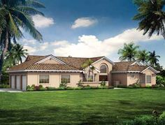 Home Plans HOMEPW14809 - 2,086 Square Feet, 3 Bedroom 2 Bathroom Home with 3 Garage Bays