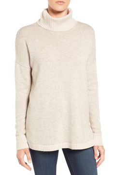 relaxed wool & cashmere turtleneck sweater