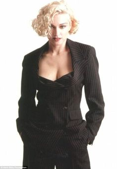 In Vogue: Madonna back when she was a sexy blonde bombshell in the 1990s...