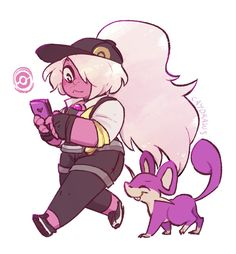 Amethyst playing Pokemon Go