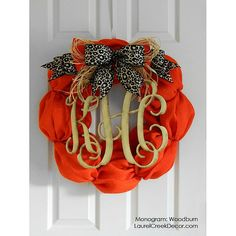 Fall Burlap Wreaths with Monogram Initials  by LaurelCreekWreaths, $125.00