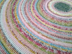 Large crochet round rug, 80,7'' (205 cm)/Crochet Rug/Rugs/Rug/Area Rugs/Floor Rugs/Large Rugs/Handmade Rug/Carpet/Wool Rug by AnuszkaDesign on Etsy