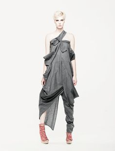 Superb One Leg Jumpsuit / Dress by MariaQueenMaria on Etsy, $129.00