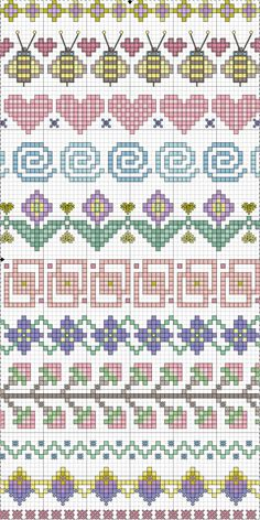 set of floral borders